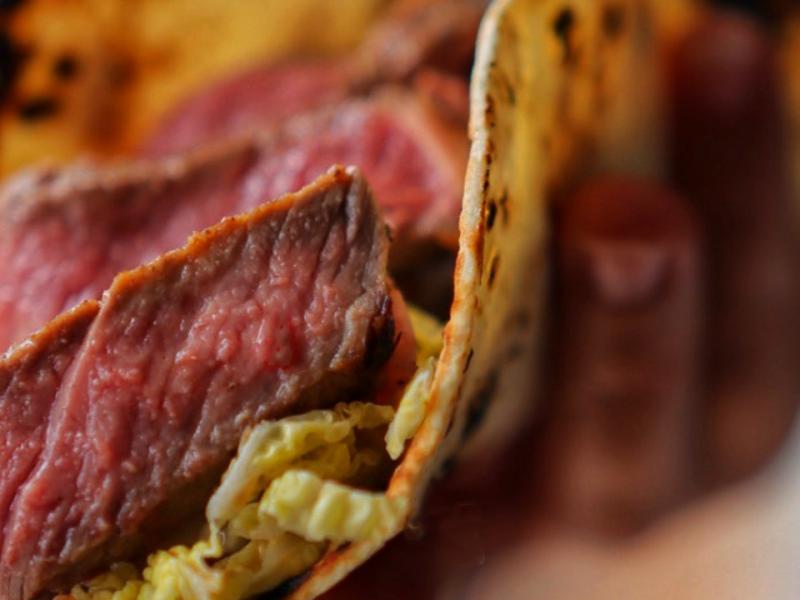 Japanese Style Steak Tacos